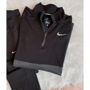 NIKE • color-block quarter zip pullover hoodie